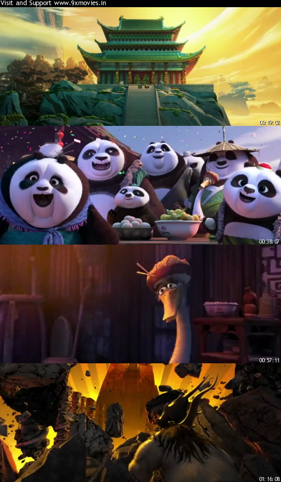 Kung Fu Panda 3 2016 Dual Audio Hindi 480p WEB-DL 300mb