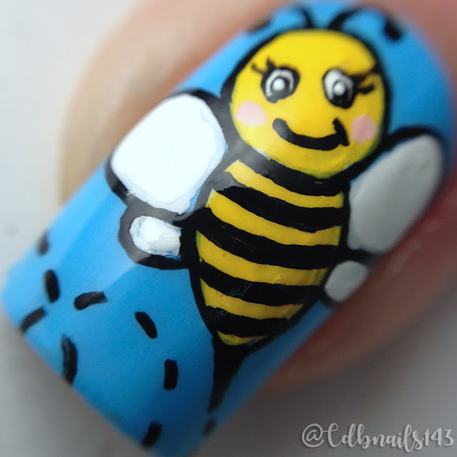cdbnails143-Cute Bees