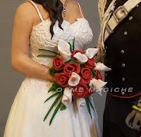 cake topper curati nei minimi dettagli bouquet rose rosse calle divisa militare orme magiche