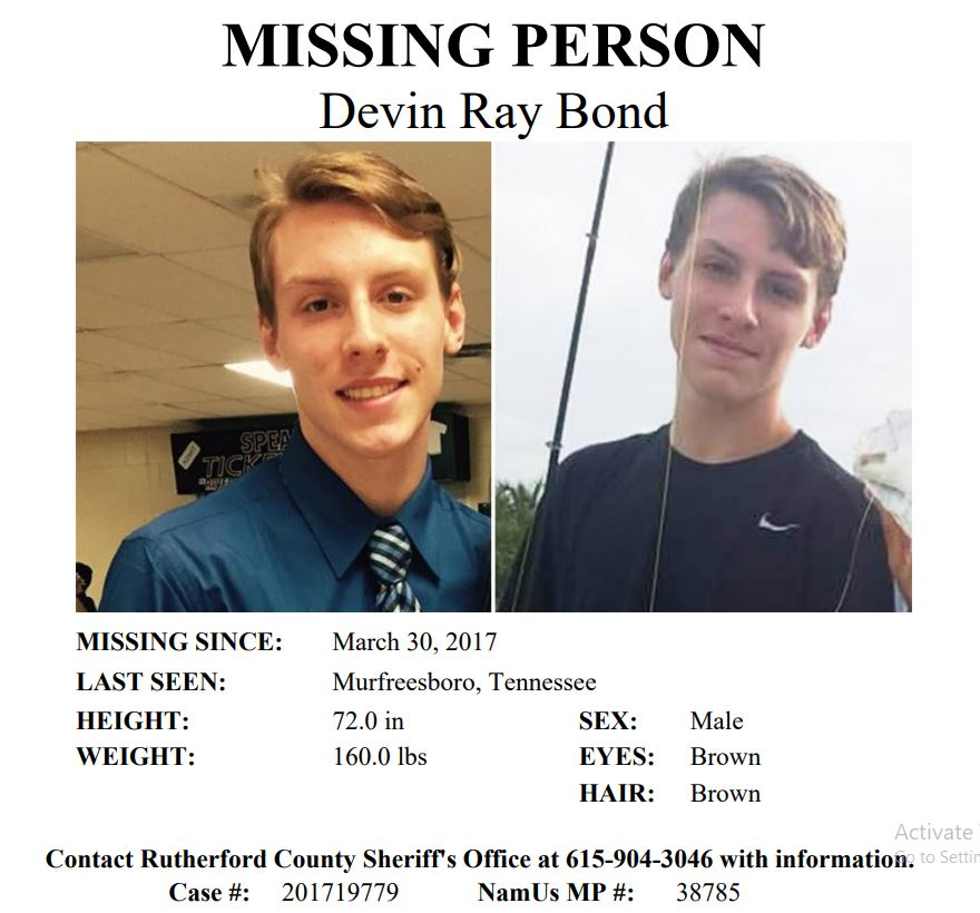 Missing Person's Commentary: NamUs MP #38785 - Devin Bond