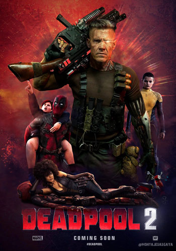 Deadpool 2 2018 Dual Audio-Hindi Dubbed 480p HDTS 300MB Poster