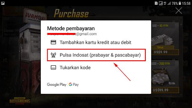 Cara Top-up Cash UC PUBG Mobile Dengan Pulsa 23