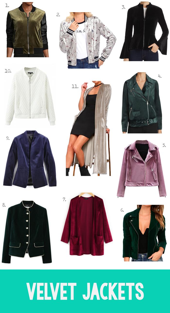 velvet coats, kimonos, bomber jackets, dusters, shopping guide, fall winter fashion trend, clothing