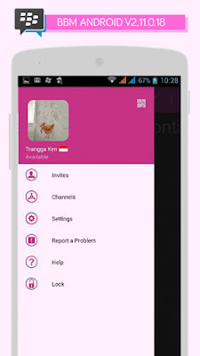 Preview BBM Windows Phone Pink