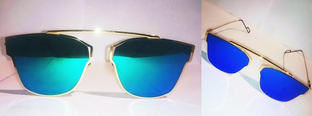 okulary sammydress, turkusowe okulary, okulary przeciwsłoneczne