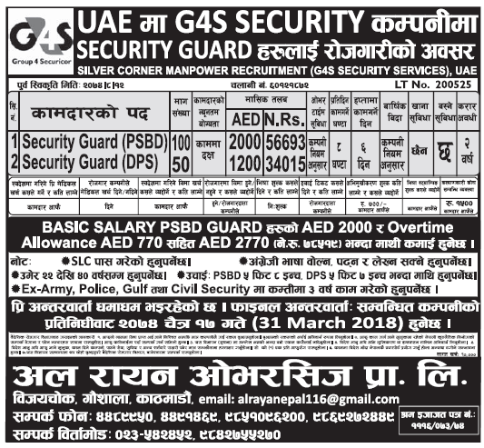 Jobs in UAE for Nepali, salary Rs 78,519