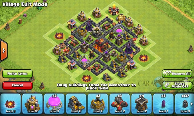 pertahanan terbaik untuk base war th 6 di clash of clans 18