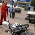 Acidente envolvendo moto e caminhonete, em Mairi