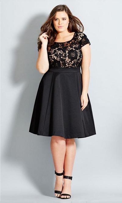model mini dress untuk wanita gemuk