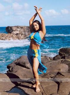 Meghna Naidu In Blue Bikini