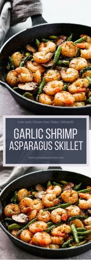 Garlic Shrimp Asparagus Skillet