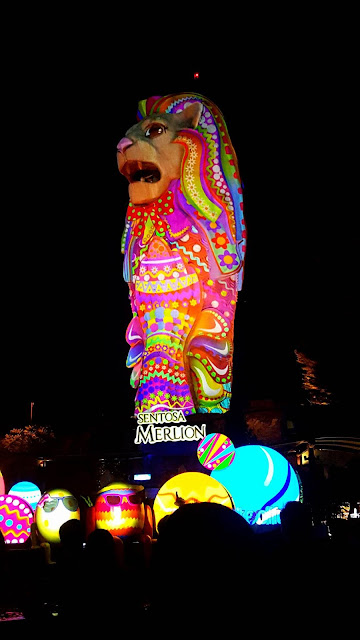 Sentosa Merlion light up