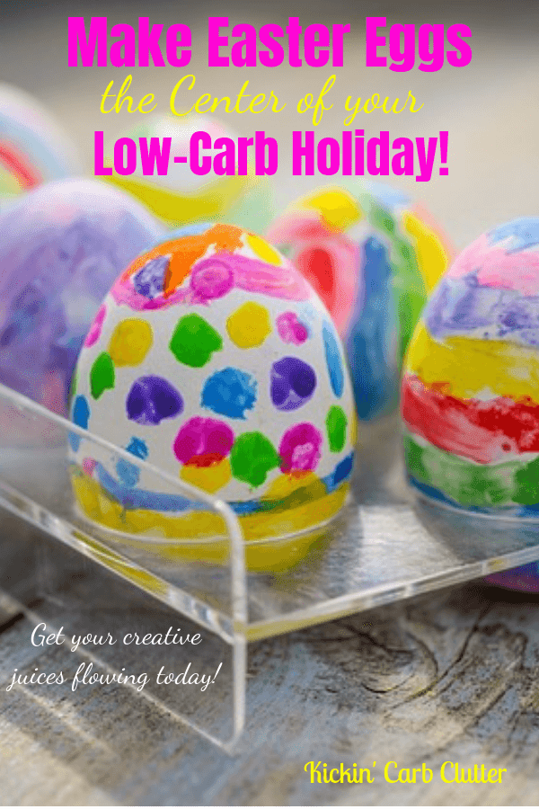Eggs decorated with paints