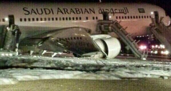 Saudi Airline Flight Landed Safely! When they opened the Doors ...