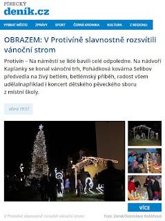 Písecký deník - protivínský strom 2016 Koblihová