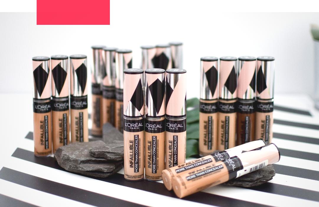 Alle Swatches des neuen L'Oréal Infaillible More Than Concealer