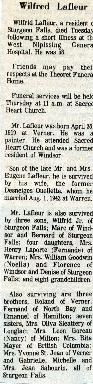 william lafleur death