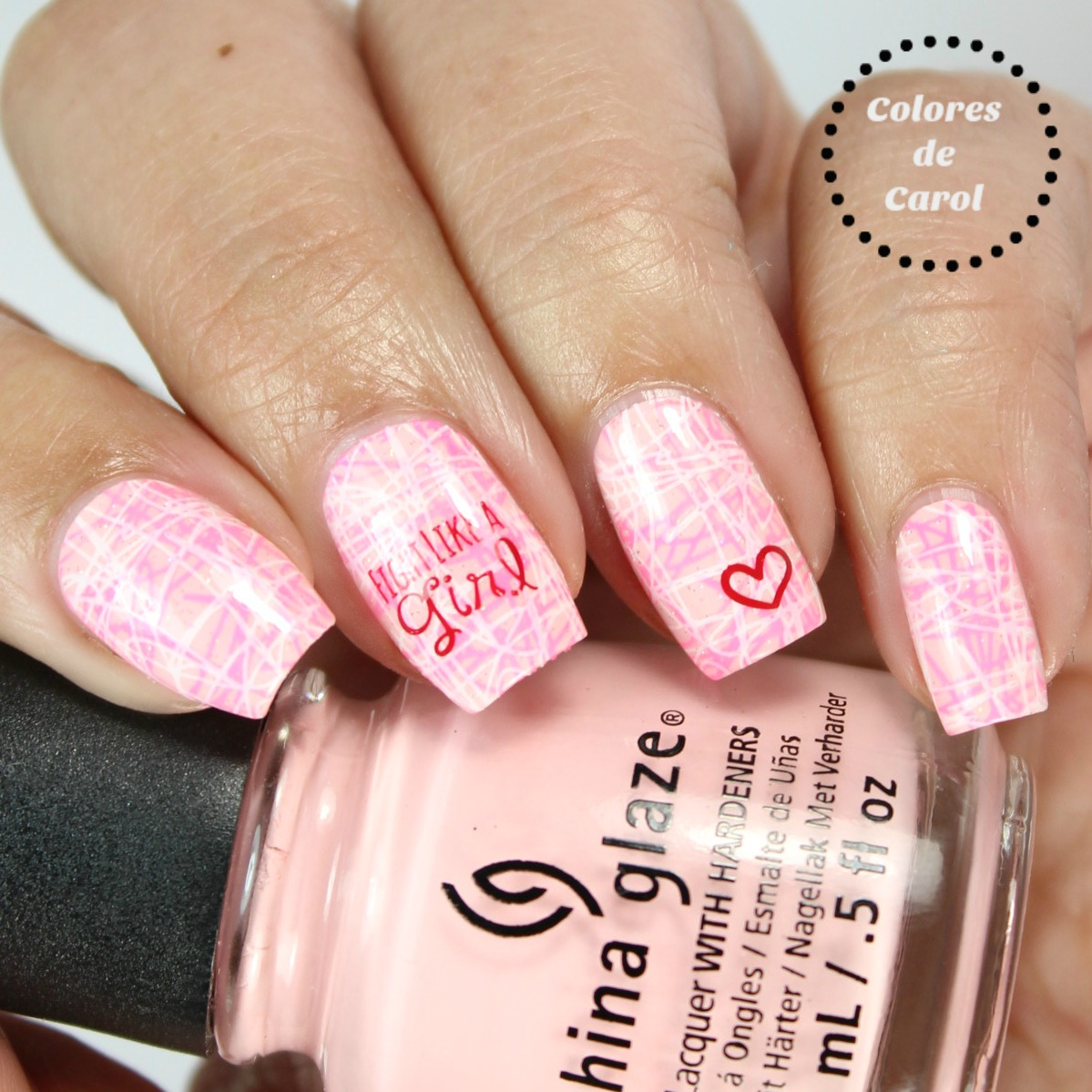 Colores de Carol: Pink Nails for breast Cancer Awareness