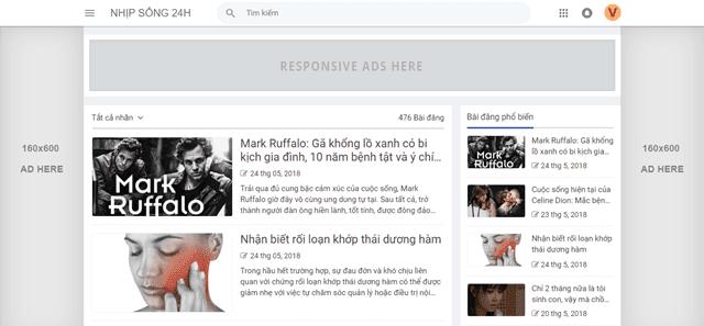 Cách chèn banner cố định 2 bên trong Blogspot