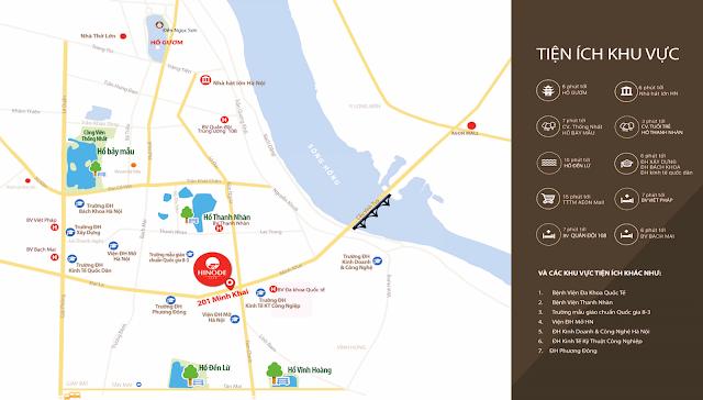 Vị trí đắc địa chung cư 201 Minh Khai