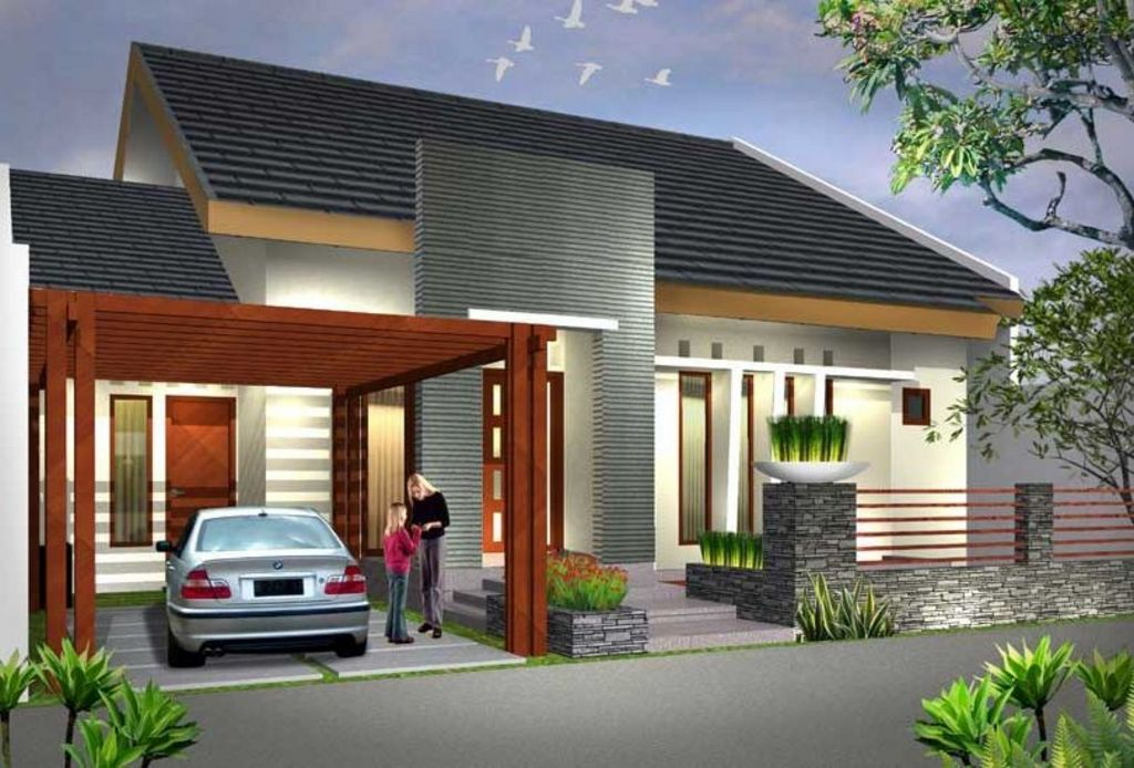Desain Rumah 1 Lantai Menawan Idaman