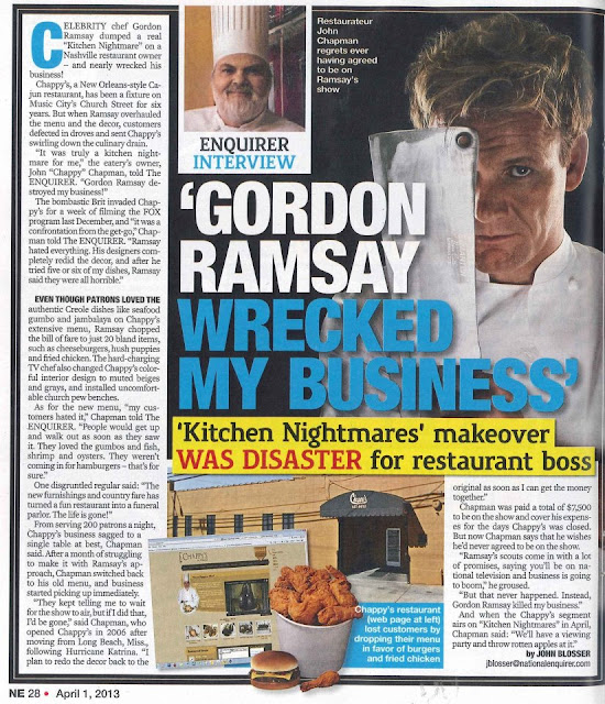 Really Amazing Chappy's Kitchen Nightmares That Make A Statement