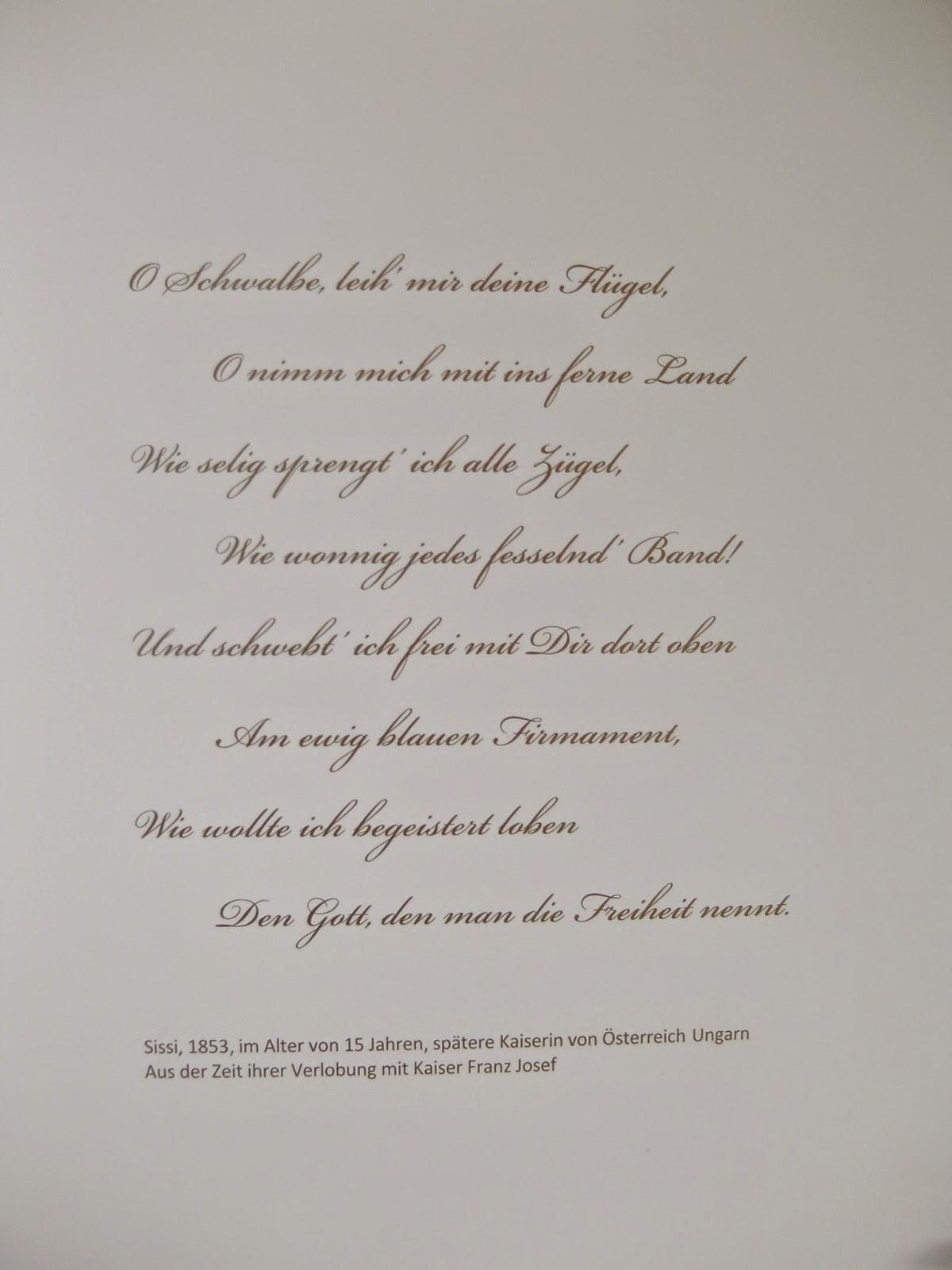 Sissi Gedichte