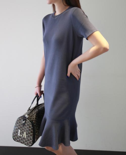 Flounce Hem T-Shirt Dress