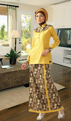 batik atasan dan bawahan model baju batik atasan wanita kantor model ...