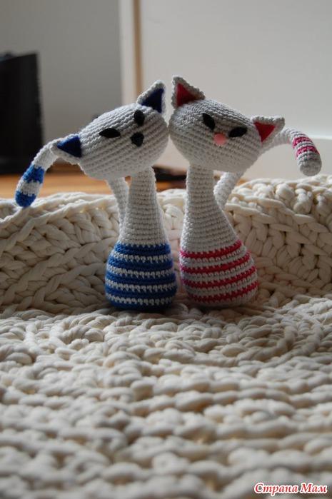 Все РукоТворчество: Кошечка-японка вязаная крючком. Описание