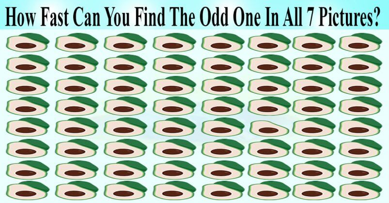 Quiz: How Quickly Can You Spot The 7 Odd Avocados In The 7 Pictures?