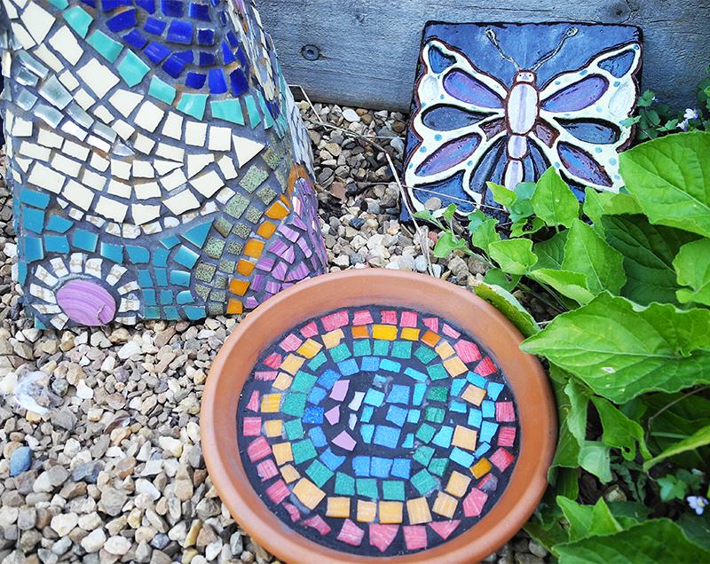 mosaic, art, garden art, art garden