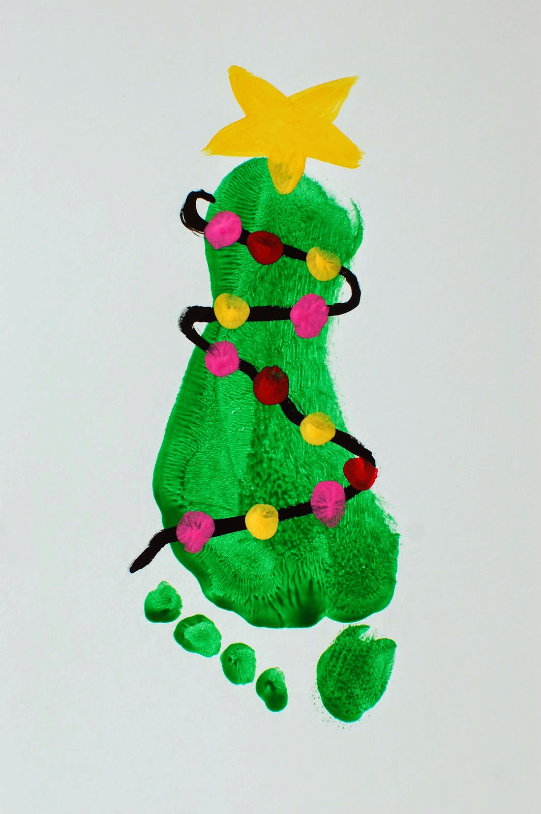 Footprint Christmas Ornament Craft