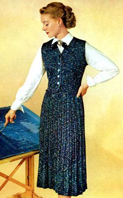 The Vintage Pattern Files : Free 1950's Knitting Pattern - Career Girl Dress