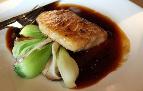 Grilled Sable Fish with Black Bean Sauce