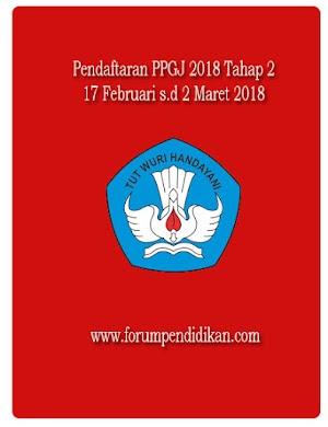 Pendaftaran PPGJ 2018 Tahap 2 sudah dibuka