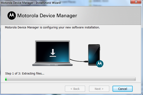 Motorola Device Manager Installation Step 4B
