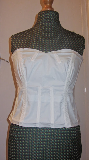 handmade wedding dress boned bodice