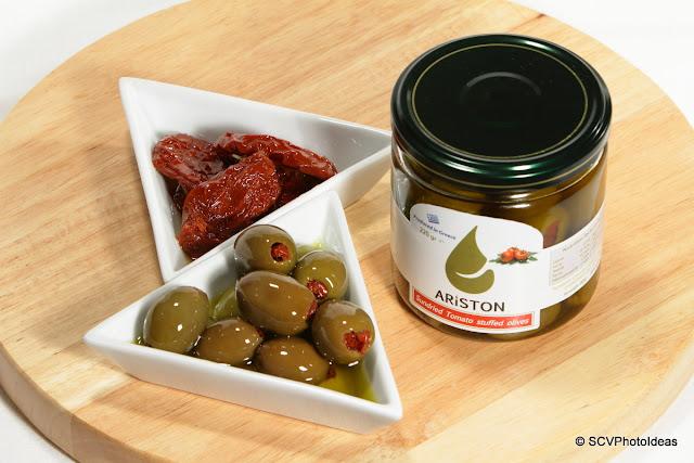 Ariston sundried tomato stuffed green olives