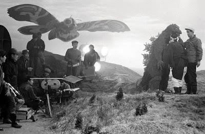 Mothra vs Godzilla detrás de las cámaras