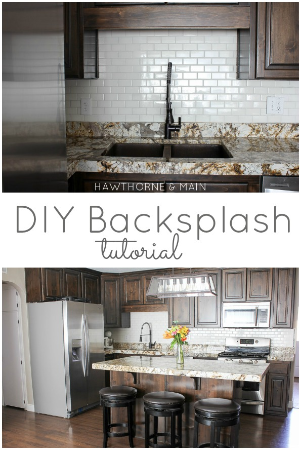 Hawthorne And Main Diy Kitchen Backsplash
