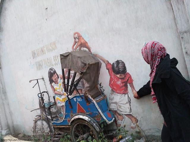 mural di jalan perdana kota medan