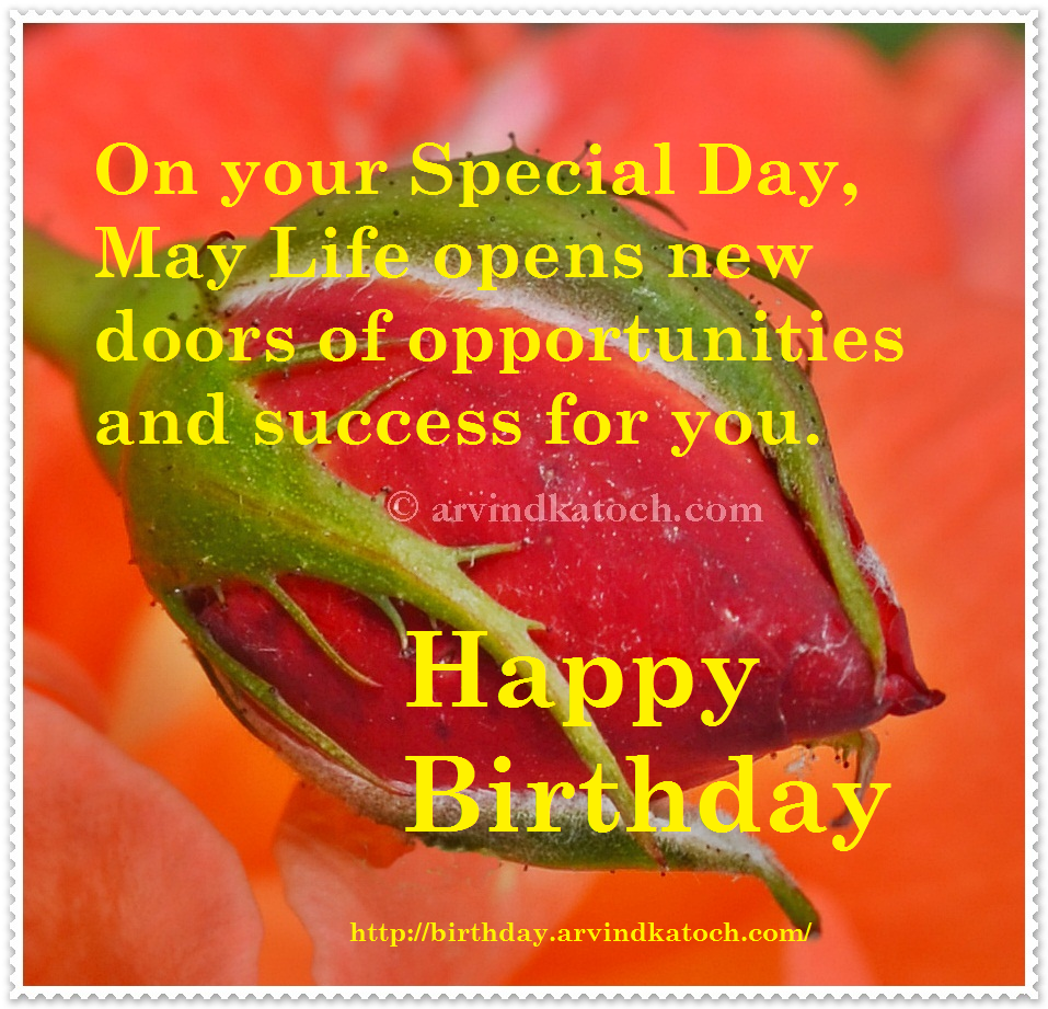 Opportunities, success, doors, birthday card, card, hppy birthday