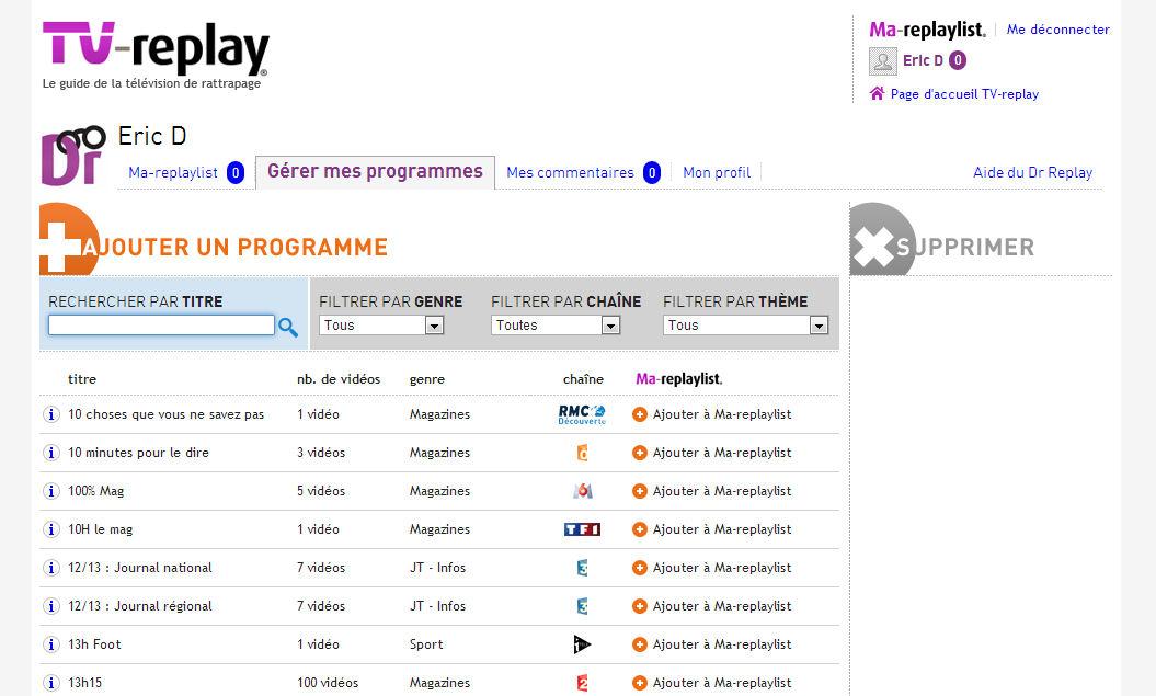 replay programme