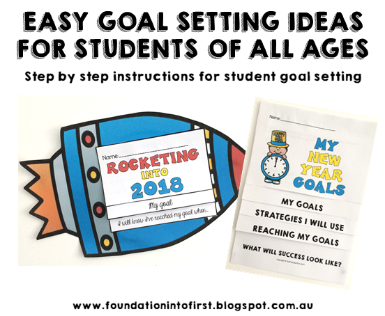 goal setting, goals, student, teacher, flip book, display, new, year