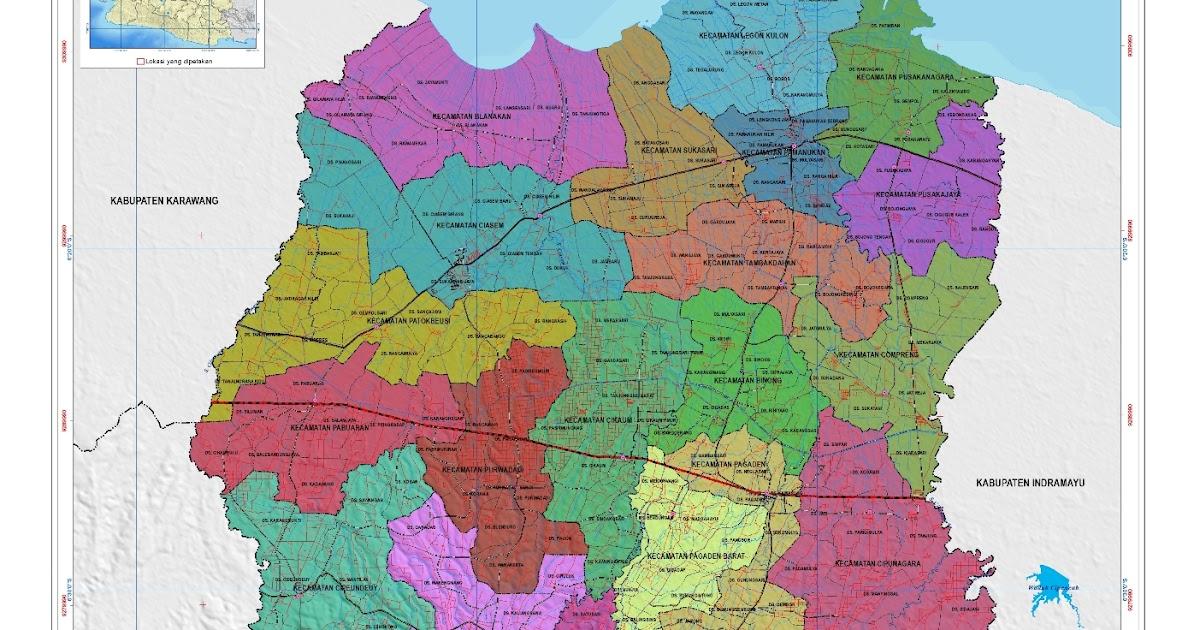 Peta Kabupaten Subang