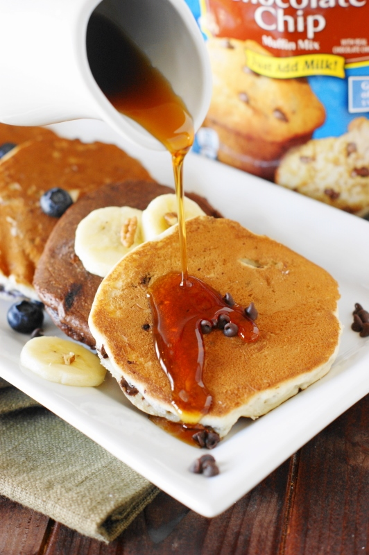 Muffin mix pancakes aka pancakes in a pinch the kitchen is my muffin mix pancakes easily mix up a batch of pancakes in almost any flavor with ccuart Image collections
