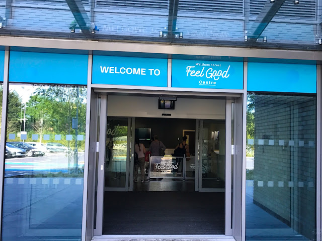 The entrance to the Feel Good Centre looking towards reception