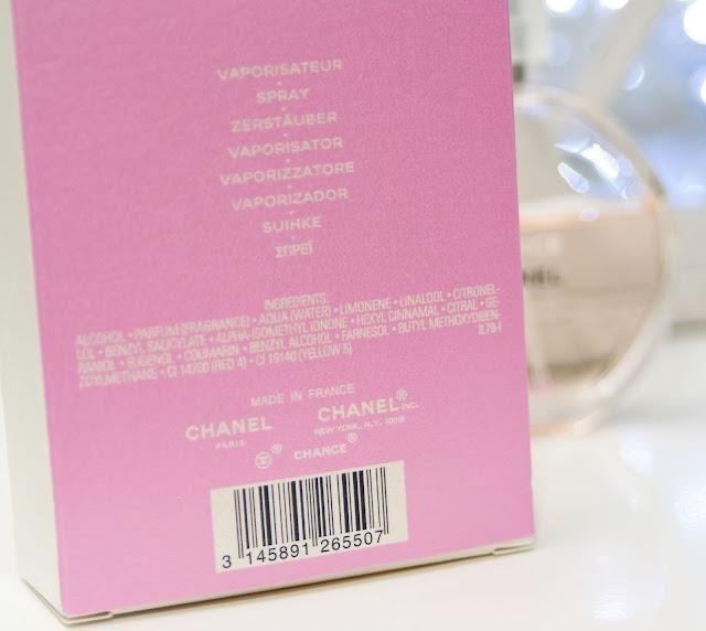 skład perfum Chanel Chance zdjęcie oryginał