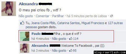 PAI NO FACEBOOK DA FILHA